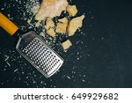 grated parmesan cheese... | Shutterstock . vector #649929682