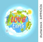 love earth concept with our... | Shutterstock .eps vector #649942426