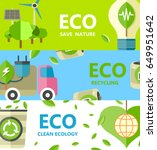 save nature  recycling and... | Shutterstock .eps vector #649951642