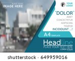 blue flyer cover business... | Shutterstock .eps vector #649959016