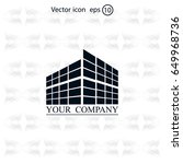 buildings icon for company | Shutterstock .eps vector #649968736