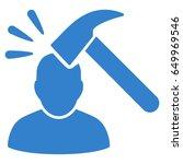 cobalt head shock toolbar icon. ... | Shutterstock .eps vector #649969546