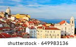 lisbon cityscape  view of the... | Shutterstock . vector #649983136