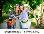 two young women exploring the...   Shutterstock . vector #649985242