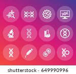 genetics icons set  dna chains  ... | Shutterstock .eps vector #649990996