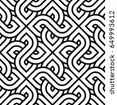 vector geometric pattern.... | Shutterstock .eps vector #649993612