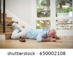 senior man fallen down from... | Shutterstock . vector #650002108