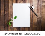 photo of blank stationery ...   Shutterstock . vector #650002192