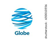 vector logo globe | Shutterstock .eps vector #650010556