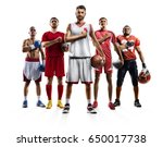 multi sport collage boxing... | Shutterstock . vector #650017738