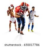 multi sport collage soccer... | Shutterstock . vector #650017786