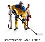 multi sports collage ice hockey ... | Shutterstock . vector #650017846