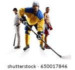 multi sports collage ice hockey ... | Shutterstock . vector #650017846