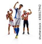 multi sport collage soccer... | Shutterstock . vector #650017942
