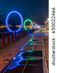 the luminous rings on the... | Shutterstock . vector #650022466