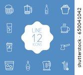 set of 12  outline icons set...   Shutterstock .eps vector #650041042
