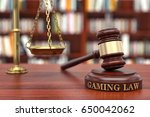 gaming law | Shutterstock . vector #650042062