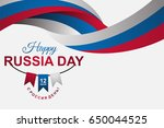 happy russia day greeting...   Shutterstock .eps vector #650044525