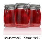 jam or juice jar composition.... | Shutterstock . vector #650047048