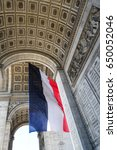 french flag arc de triomphe | Shutterstock . vector #650052046