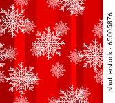 christmas snowflakes seamless... | Shutterstock .eps vector #65005876
