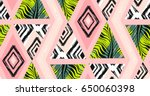 hand drawn vector abstract... | Shutterstock .eps vector #650060398