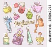 Perfume And Cosmetics Hand...