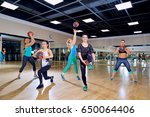 group of women in training in... | Shutterstock . vector #650064406