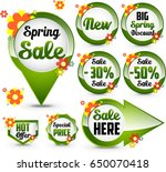 spring sale banners   Shutterstock . vector #650070418