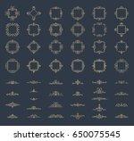 retro rosette and victorian... | Shutterstock . vector #650075545