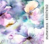 floral background. watercolor... | Shutterstock . vector #650076562