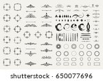 circle and square wicker... | Shutterstock . vector #650077696