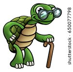 an elderly senior tortoise... | Shutterstock .eps vector #650077798