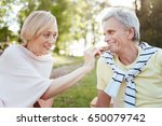 joyful pensioners enjoying... | Shutterstock . vector #650079742