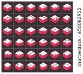vector a z alphabet pink text... | Shutterstock .eps vector #650082922