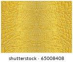 Yellow Alligator Skin