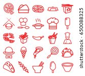 cuisine icons set. set of 25... | Shutterstock .eps vector #650088325