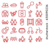 boy icons set. set of 25 boy... | Shutterstock .eps vector #650090236