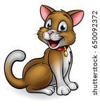 cartoon cat mascot character | Shutterstock . vector #650092372