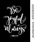 be joyful. bible verse. hand...   Shutterstock .eps vector #650100205