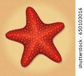vector illustration of red sea... | Shutterstock .eps vector #650103016