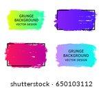 set of trendy gradient grunge ... | Shutterstock .eps vector #650103112