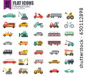 simple set of transport flat... | Shutterstock .eps vector #650112898
