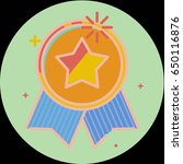 best of badge with ribbon icon... | Shutterstock .eps vector #650116876