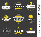 summer season sale badges and... | Shutterstock .eps vector #650116906