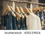 clothing store in paris | Shutterstock . vector #650119816