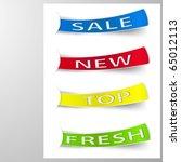 sale paper labels. vector | Shutterstock .eps vector #65012113