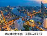 aerial view chao phraya river... | Shutterstock . vector #650128846