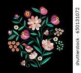 vector embroidery   Shutterstock .eps vector #650131072