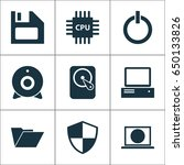 gadget icons set. collection of ... | Shutterstock .eps vector #650133826
